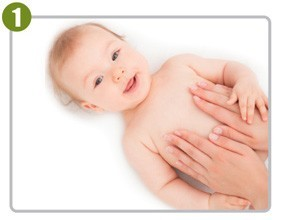 Natural-Oil-Baby-Massage-Step1